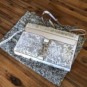 Rebecca Minkoff Mini MAC White laser cut handbag